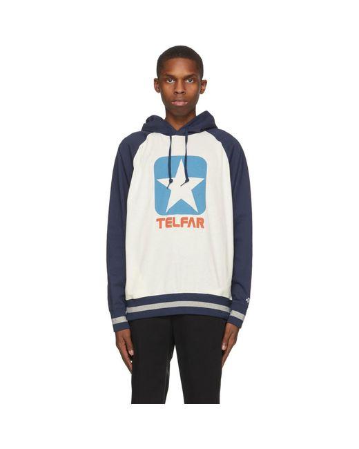 メンズ Telfar Converse エディション オフホワイト ロゴ フーディ Multicolor