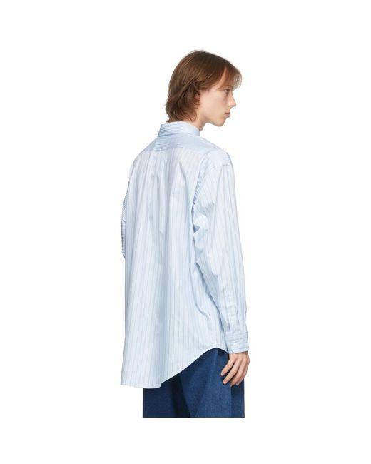 メンズ Eytys ブルー And ホワイト Petyon ストライプ シャツ Blue