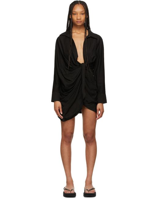 Jacquemus ブラック La Robe Bahia ドレス Black