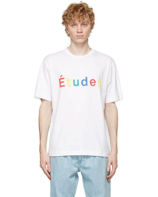 メンズ Etudes Studio ホワイト Wonder Multico T シャツ White