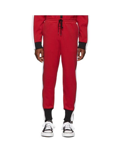 Miharayasuhiro - Red Pantalon de survetement rouge Side Stripe for Men - Lyst