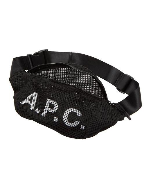 メンズ A.P.C. ブラック Rebound ヒップ パック Black