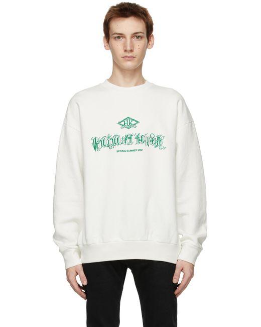 メンズ Han Kjobenhavn オフホワイト Artwork スウェットシャツ White