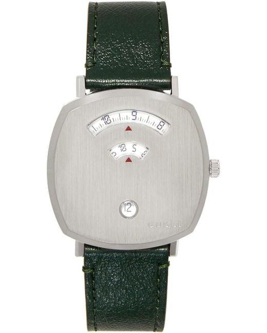 メンズ Gucci 【公式】 (グッチ)〔グリップ〕 ウォッチ(35 Mm)グリーン アリゲーター Undefined Green