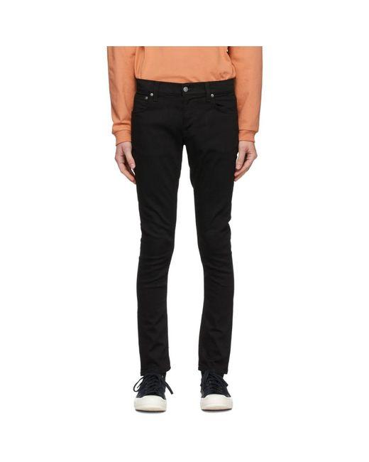 メンズ Nudie Jeans ブラック タイト Terry ジーンズ Black