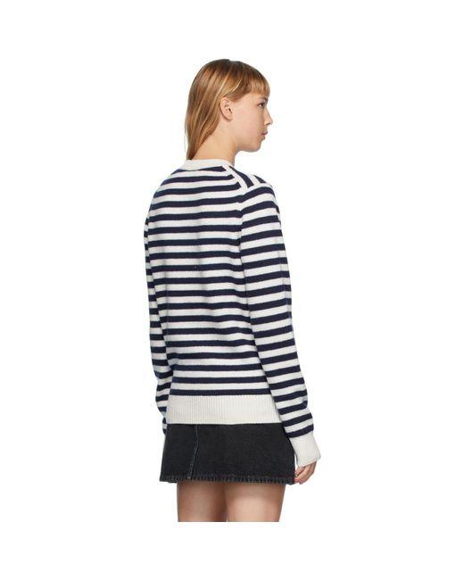 Acne ネイビー And ホワイト Breton ストライプ セーター Blue