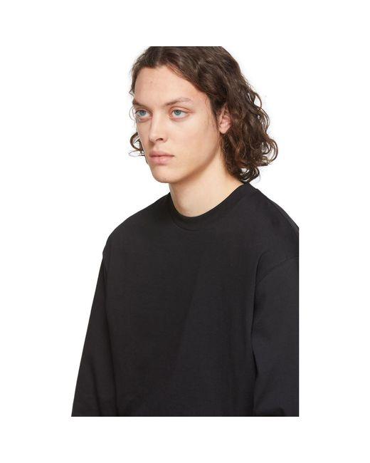 メンズ Random Identities ブラック バック ロゴ T シャツ Black