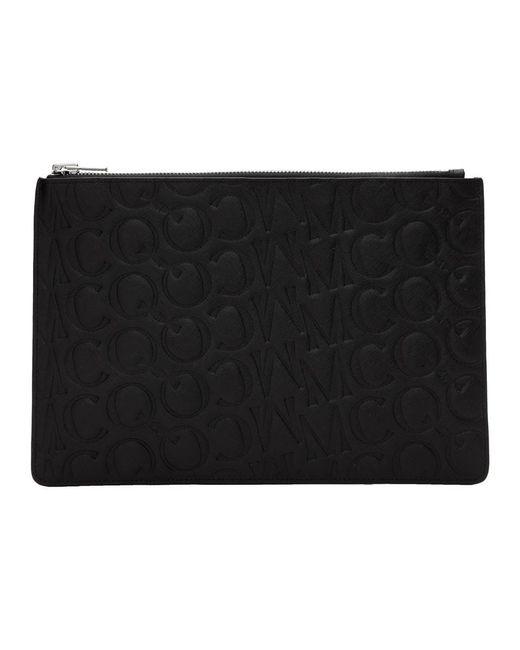 メンズ McQ Alexander McQueen ブラック ロゴ タブレット ポーチ Black