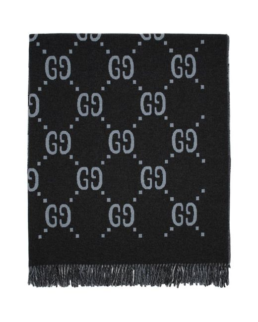 Gucci - Gray Poncho reversible gris GG for Men - Lyst