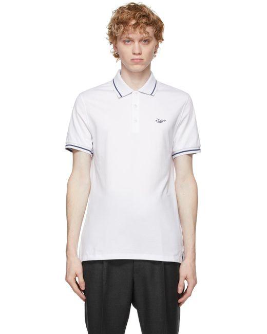 メンズ Ermenegildo Zegna ホワイト ポロシャツ White