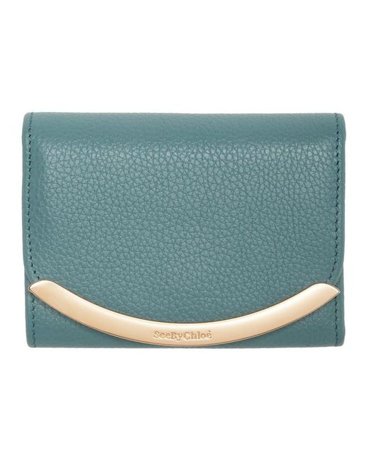 See By Chloé ブルー Lizzie コンパクト ウォレット Blue