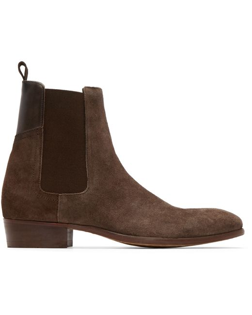 h by hudson brown watts chelsea boots in brown for men lyst. Black Bedroom Furniture Sets. Home Design Ideas