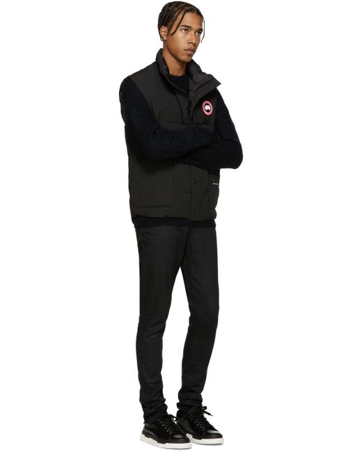 Canada Goose montebello parka replica store - Canada goose Black Down Freestyle Vest in Black for Men | Lyst