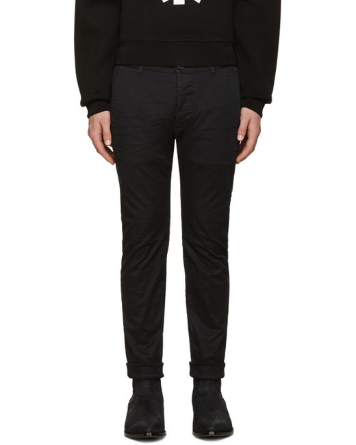DSquared²   Black Twiggy Boy Trousers for Men   Lyst