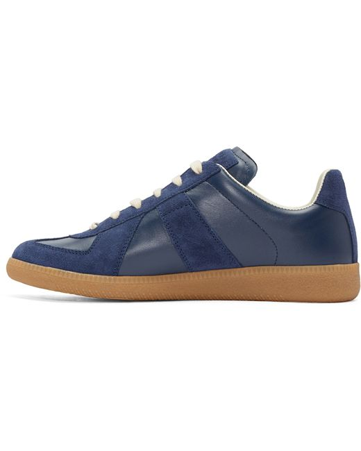 Maison Margiela Navy Replica Sneakers In Blue For Men