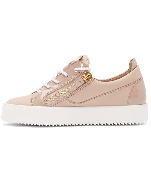 giuseppe zanotti pink sneakers in pink lyst