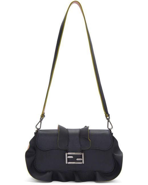 Fendi | Multicolor Clutch Bag Baguette Micro Leather With Strap 8x14x3 Cm | Lyst