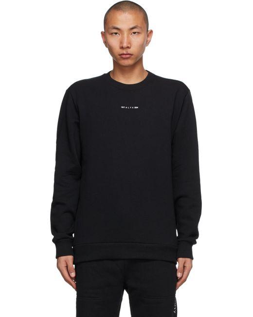 メンズ 1017 ALYX 9SM ブラック Visual クルーネック スウェットシャツ Black