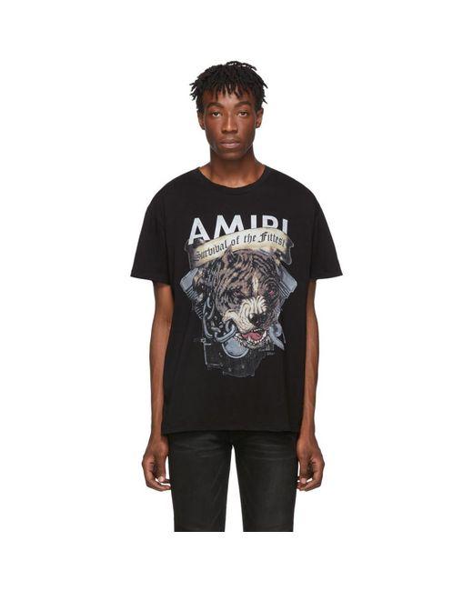 メンズ Amiri ブラック Pitbull T シャツ Black