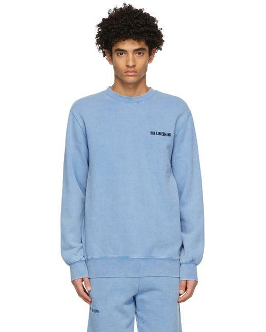 メンズ Han Kjobenhavn ブルー Casual スウェットシャツ Blue