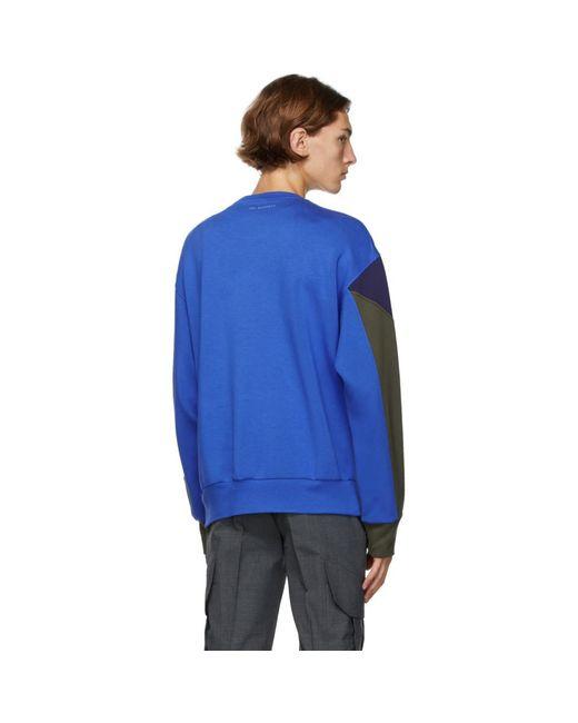 メンズ Neil Barrett ブラック And カーキ Modernist スウェットシャツ Blue