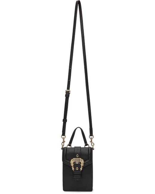 Versace Jeans ブラック トップ ハンドル バッグ Black