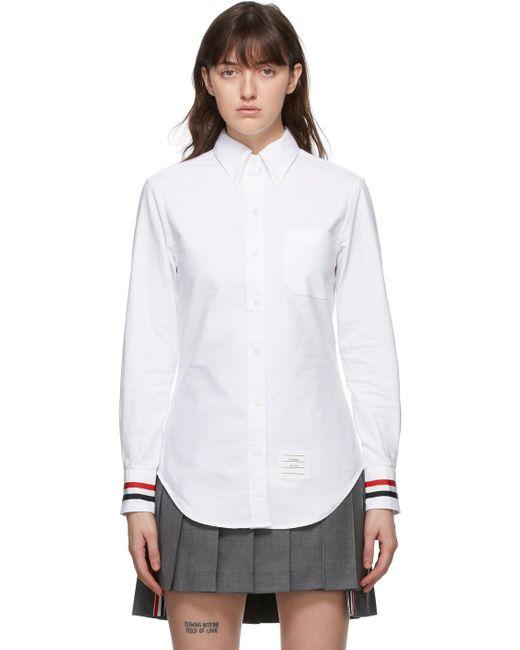 Thom Browne オンライン限定 ホワイト Classic シャツ White