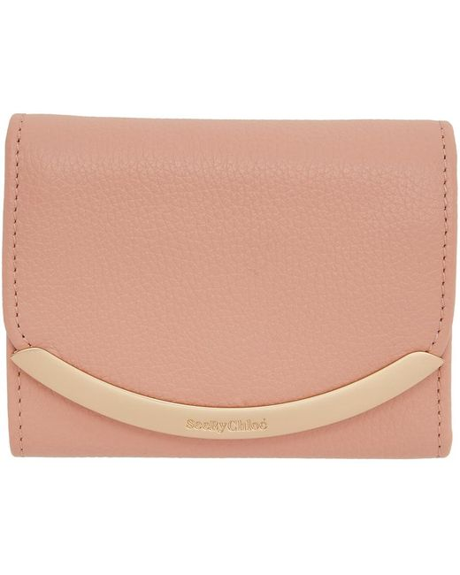 See By Chloé ピンク Lizzie Compact トライフォールド ウォレット Pink