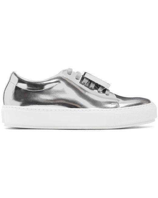 Acne   Silver Metallic Adriana Sneakers   Lyst