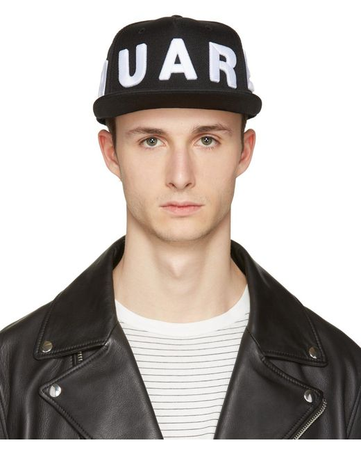 DSquared² | Black Embroidered Logo Cap for Men | Lyst