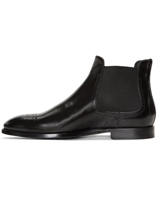 burberry black davy mod chelsea boots in black for lyst
