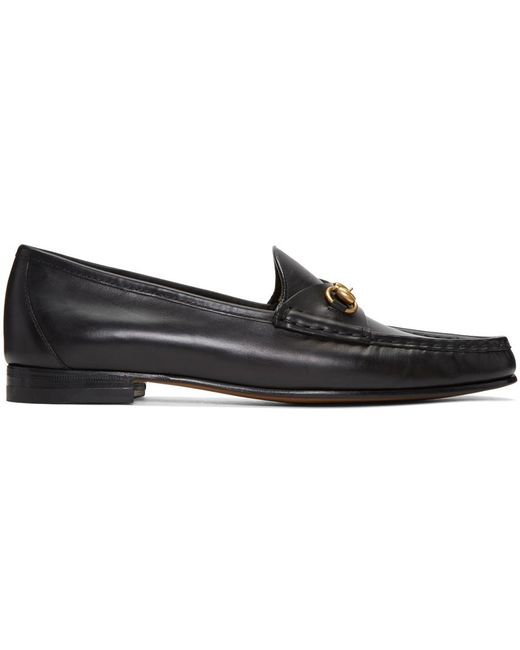 Gucci | Black Frame Loafers | Lyst