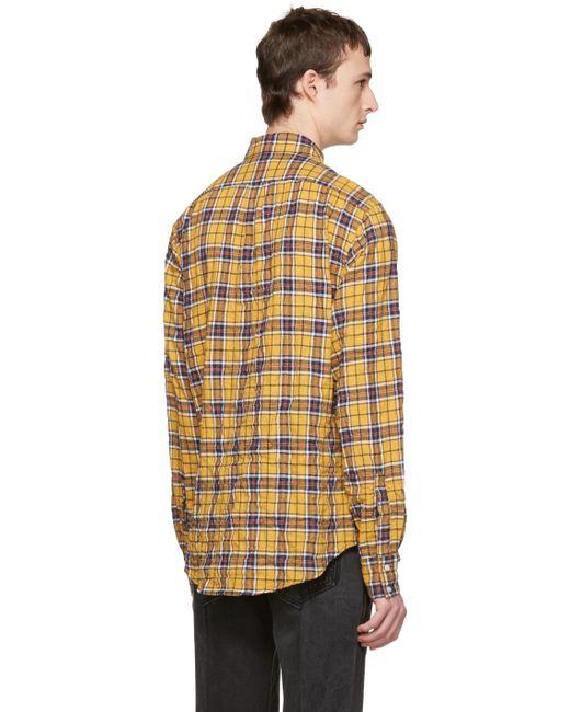 creative yellow plaid shirt outfit men 15