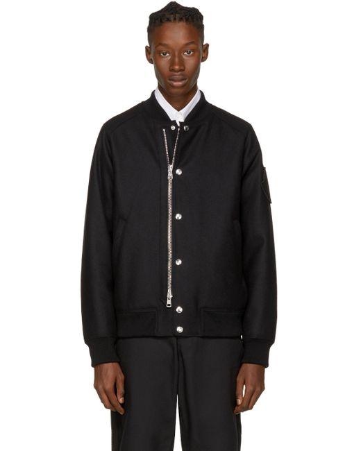 Moncler   Black Down Ica Bomber Jacket for Men   Lyst