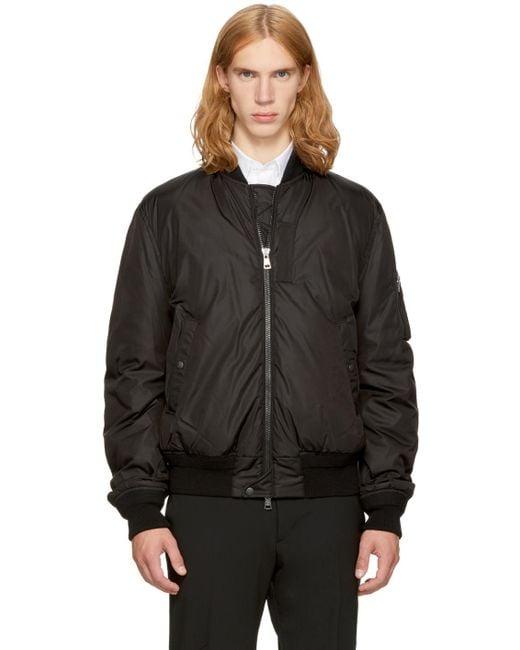 Moncler | Black Down Allix Bomber Jacket for Men | Lyst