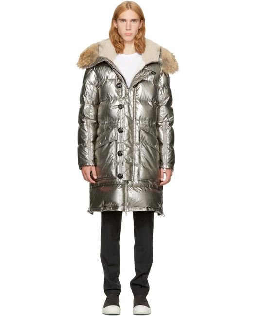 Moncler | Metallic Silver Down Inuit Jacket for Men | Lyst