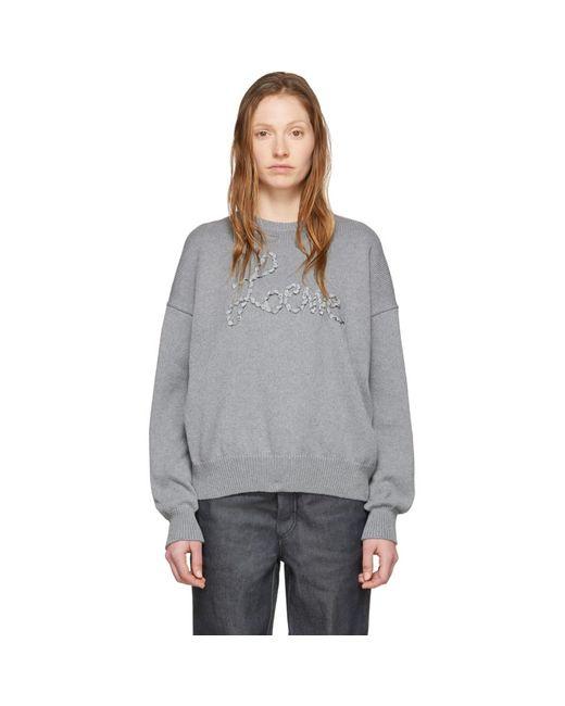 Loewe グレー ステッチ セーター Gray