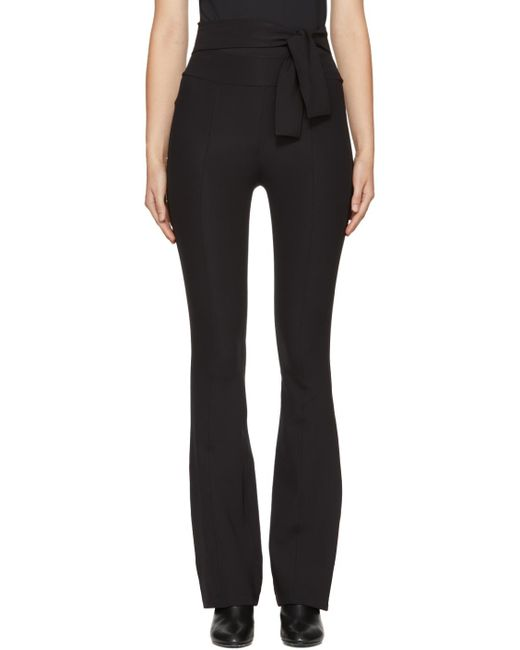 Helmut Lang | Black Flared Legging Trousers | Lyst