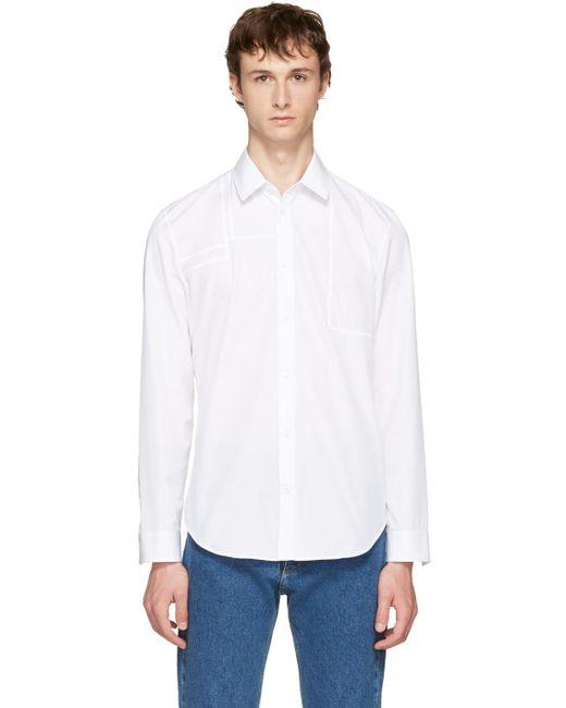 Maison Margiela   White Panelled Poplin Shirt for Men   Lyst