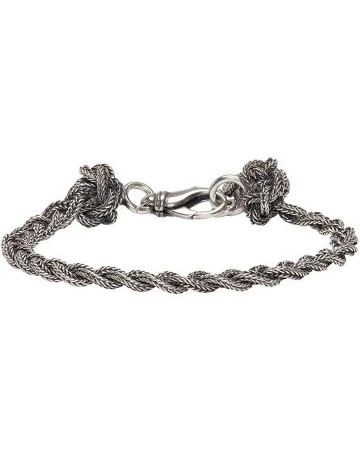 Emanuele Bicocchi | Metallic Silver Braided Knots Bracelet | Lyst