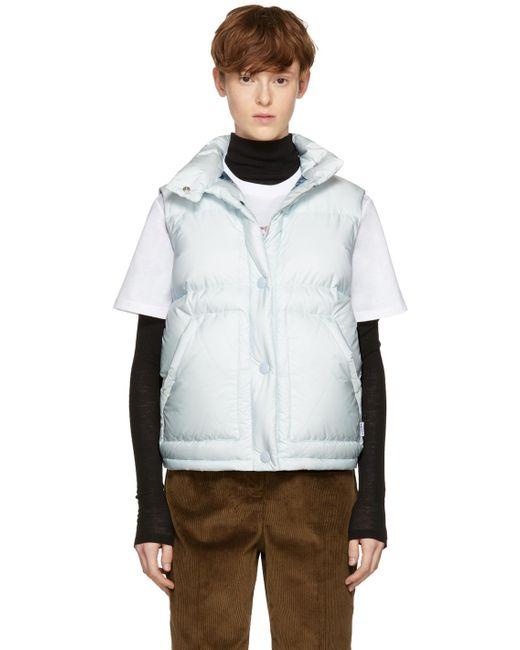 Prada | Blue Down Puffer Vest for Men | Lyst