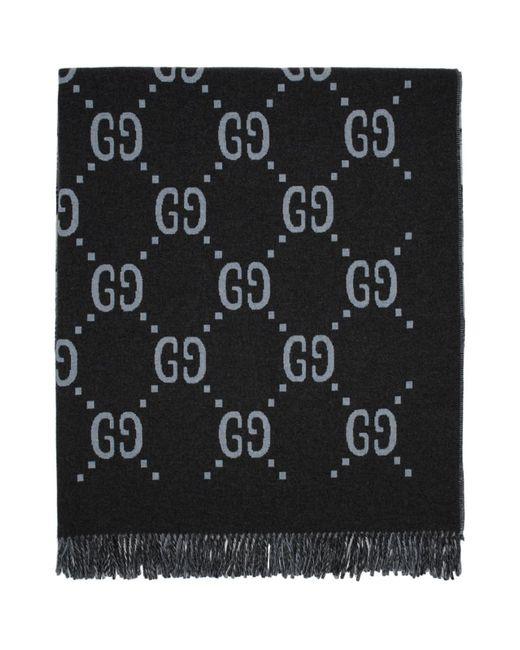 Poncho reversible gris GG Gucci pour homme en coloris Gray