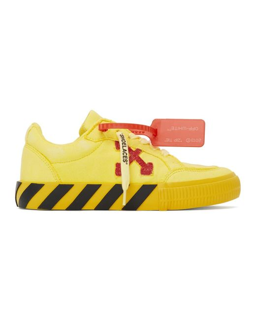 Off-White c/o Virgil Abloh Yellow And Red Low Vulcanized Sneakers for men