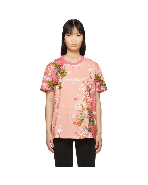 Givenchy ピンク フラワーズ T シャツ Pink