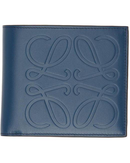 メンズ Loewe ブルー バイフォールド ウォレット Blue
