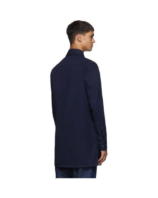 メンズ Random Identities ブルー Saharienne シャツ ジャケット Blue