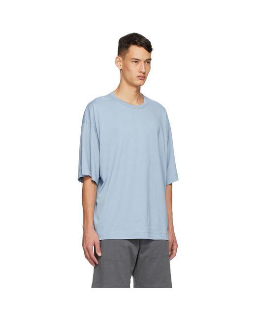 メンズ Dries Van Noten ブルー コットン T シャツ Blue