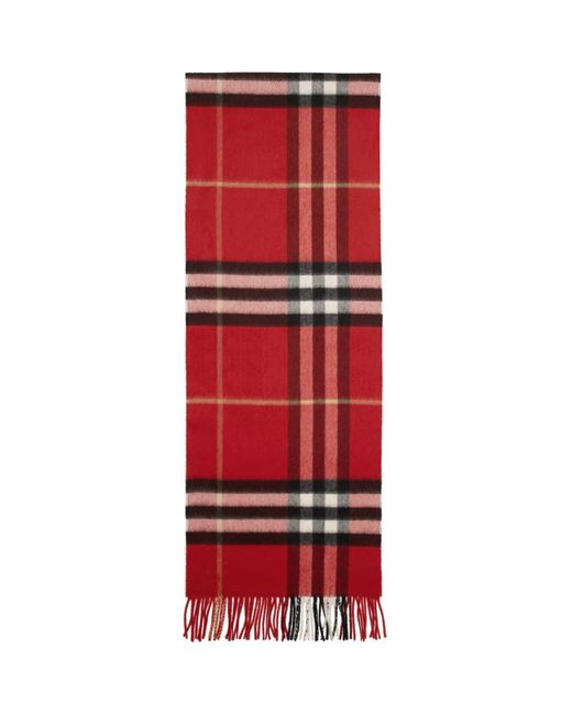 Burberry レッド ジャイアント アイコン チェック スカーフ Red