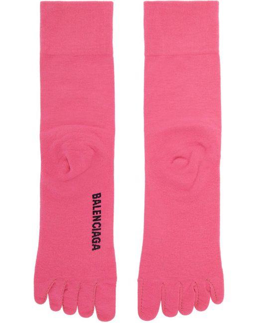 Balenciaga ピンク ロゴ Toe ソックス Pink