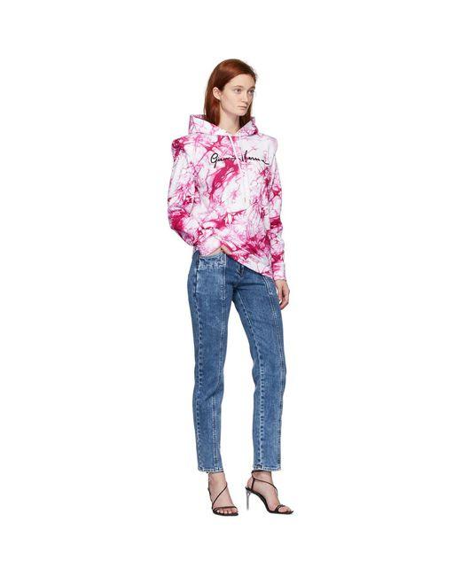 Versace ピンク タイダイ フーディ Pink